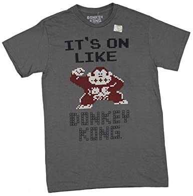 38c3fc379 Nintendo Men's It's On Like Donkey Kong NES Classic Graphics T-Shirt ...