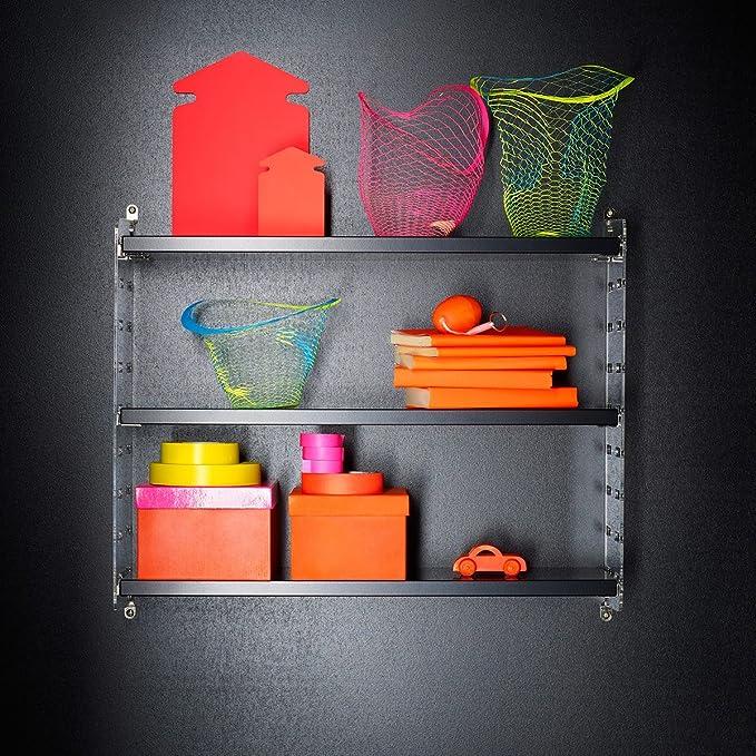 String Plex Pocket – Estantería, Negro, W 60 cm x D 15 cm x H ...