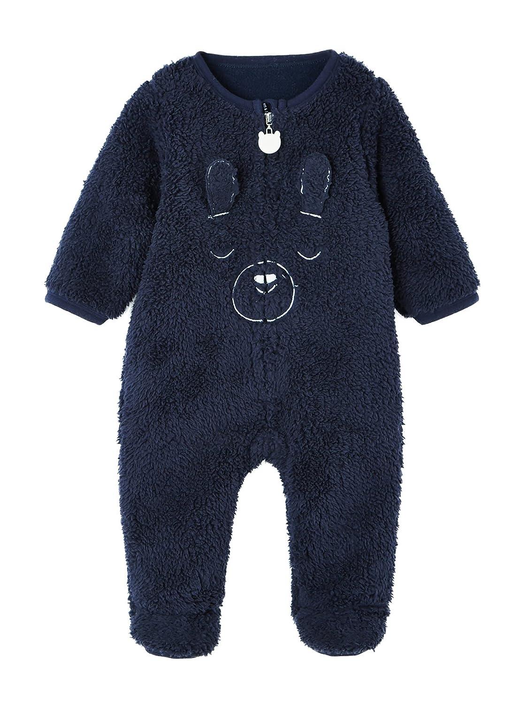 9bbf6f22a1d7f VERTBAUDET Surpyjama bébé toucher peluche Gris chiné 1M - 54CM  Amazon.fr   Bébés   Puériculture