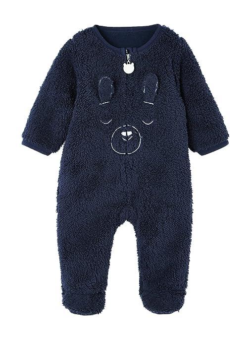 VERTBAUDET Sobrepijama para bebé con tacto de pelo sintético Azul Marino 1M - 54CM