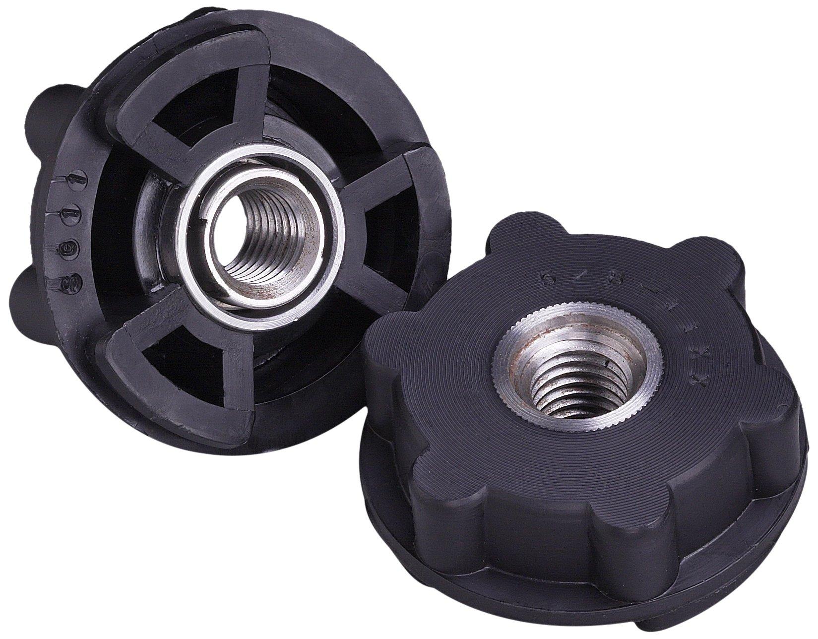 3M Disc Pad Hub 11824, GL Attachment, 2-1/2'' Diameter, 5/8''-11 Internal Thread, Black (Pack of 10)