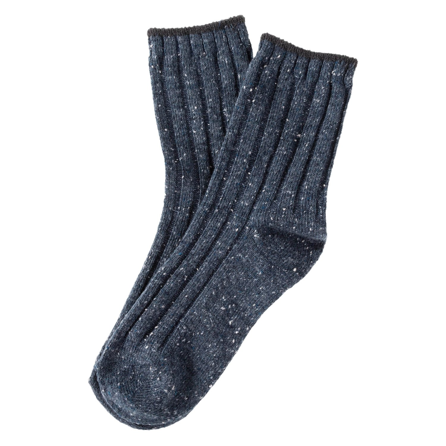 Lian LifeStyle Big Girl's 4 Pairs Cotton Blend Crew Socks HR1762 Casual Size L/XL 4 Colors Style 2(Navy, Dark Grey, Green, Red)