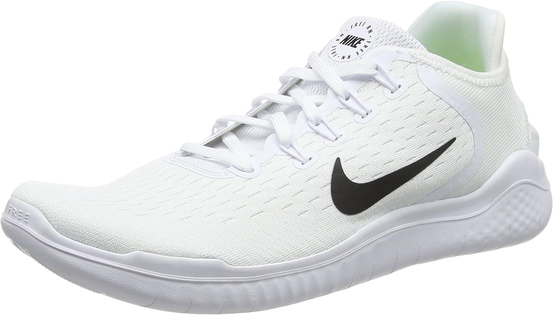 Nike Free RN 2018 , Zapatillas de Running Hombre, Blanco (White/Black 100), 48.5 EU: Amazon.es: Zapatos y complementos