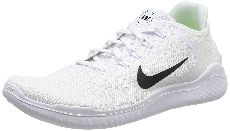 Nike Free RN 2018, Zapatillas de Running Hombre 47 EU Blanco (White/Black 100)