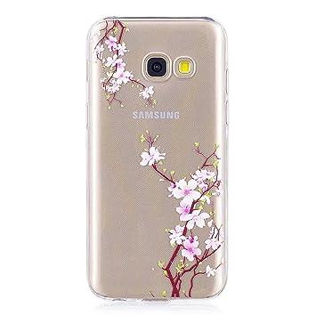 DENDICO Funda Galaxy A3 2017, Ultra Fina Silicona Piel Cárcasa para Samsung Galaxy A3 2017 Cárcasa Transparente Protectora [Protección de Bordes] - ...