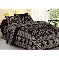 Jaipuri Double bedsheets with 2 Pillow Covers Queen Size Authentic Rajasthani 100% Cotton bedspreads