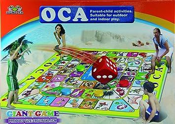 Juego oca gigante suelo 180x160 cm: Amazon.es: Juguetes y juegos