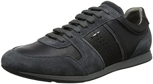 U Clemet a, Zapatillas para Hombre, Gris (Black/Dk Grey), 39 EU Geox