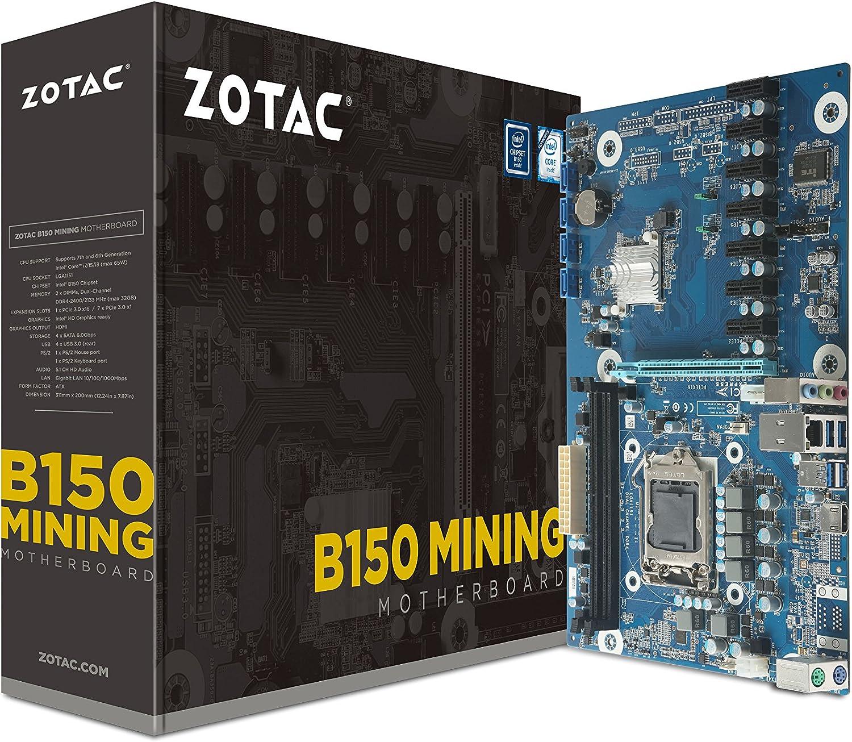 Motherboard ZOTAC B150 para Criptomineria 7 PCIe x1 LGA1151
