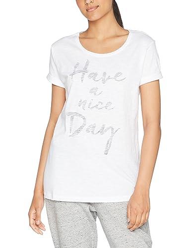 ESPRIT 047ei1k025-Print, T-Shirt Donna