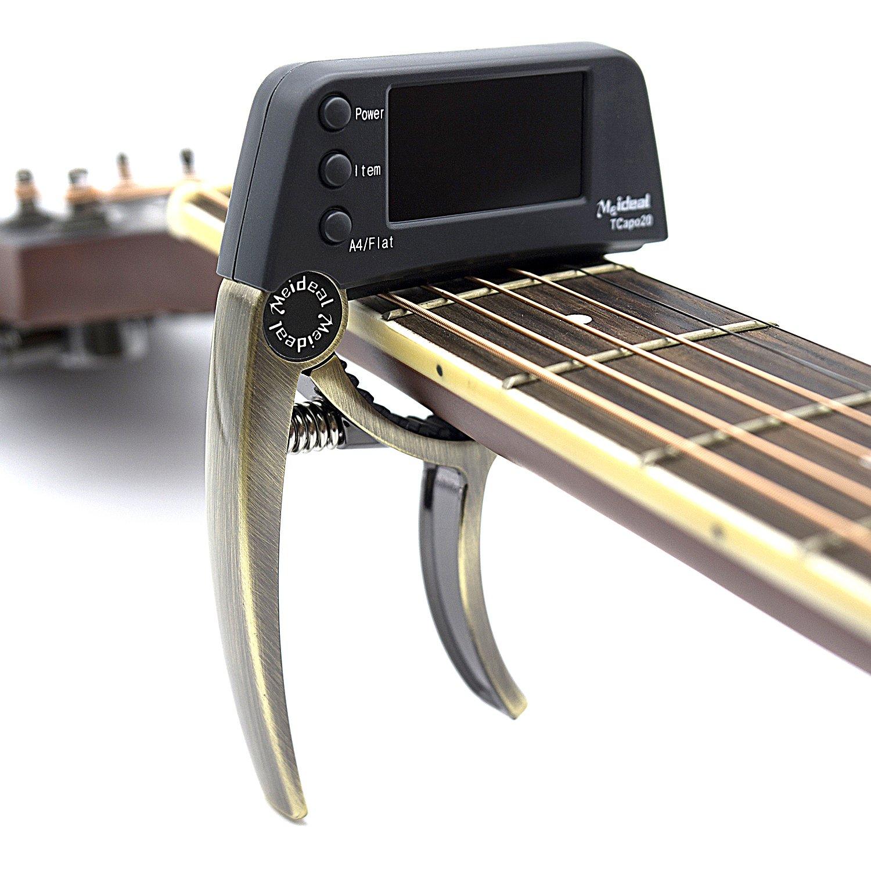 Accessori per chitarra Loftstyle, accordatore e capotasto  Bronze Tuner blue
