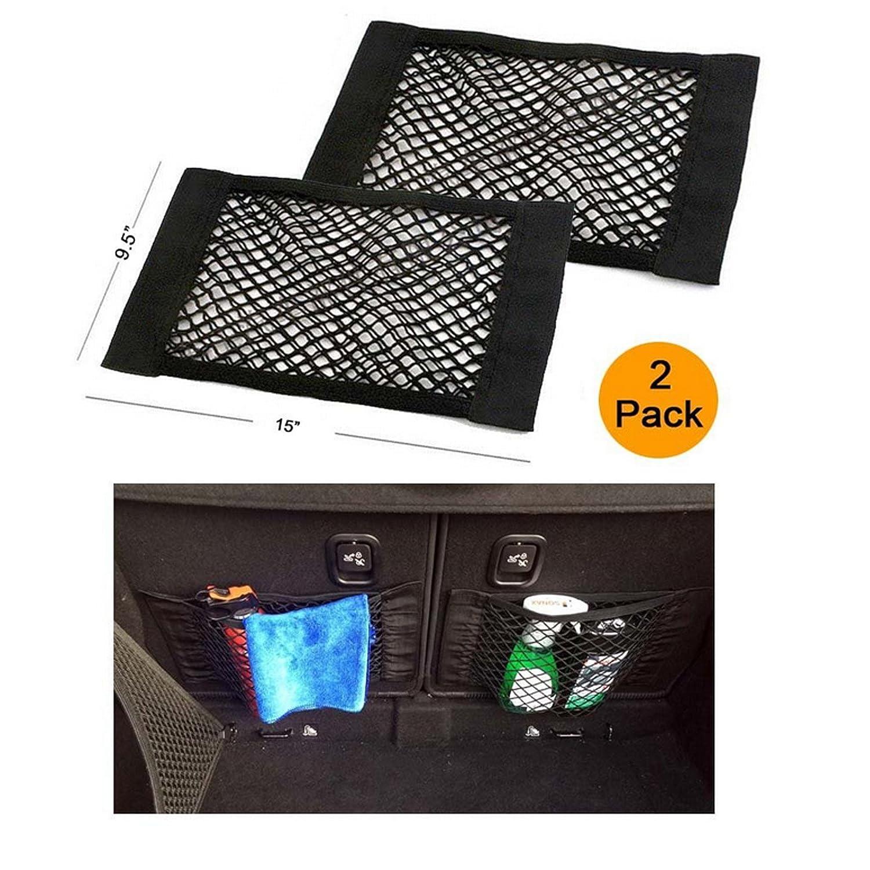 Bottiglie 2 PACK Ruesious Trunk Storage Net, Car Storage Net generi alimentari stoccaggio Add On Organizzatori per Car Truck