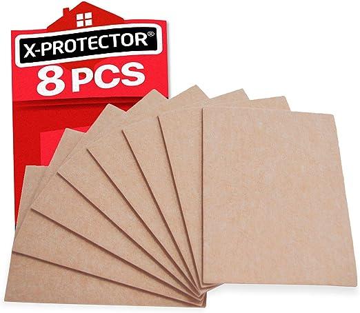 Fieltro adhesivo X-PROTECTOR – Deslizadores para muebles – 8 ...