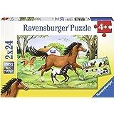 Ravensburger - 08882 9 - Puzzle - Monde De Chevaux - 2 x 24 Pièces