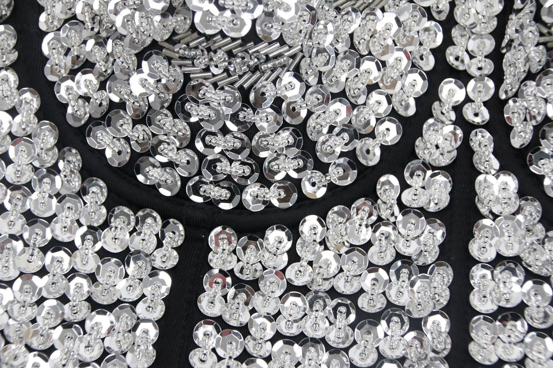 8efd487fbc Charmian Women s Burlesque Fashion Beaded Sequins Push Up Crop Top Bustier  Bra   Shops   Clothing