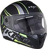 Vega Ryker D/V Track Dull Black Neon Yellow Helmet, M