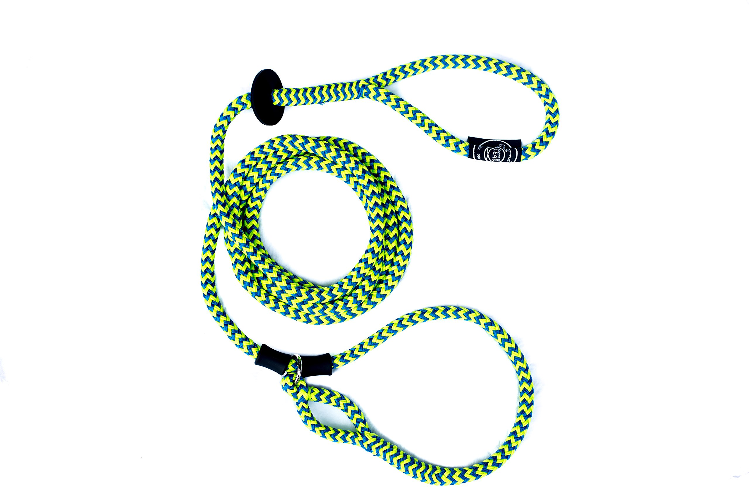 Harness Lead Escape Resistant, Reduce Pull, Dog Harness, Medium/Large, 40-200 lb, Peacock (Blue/Lime)