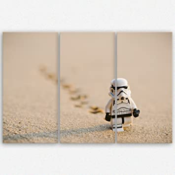 Ge Bildet Hochwertiges Leinwandbild XXL   Stormtrooper IV Walking   120 X  80 Cm Mehrteilig (