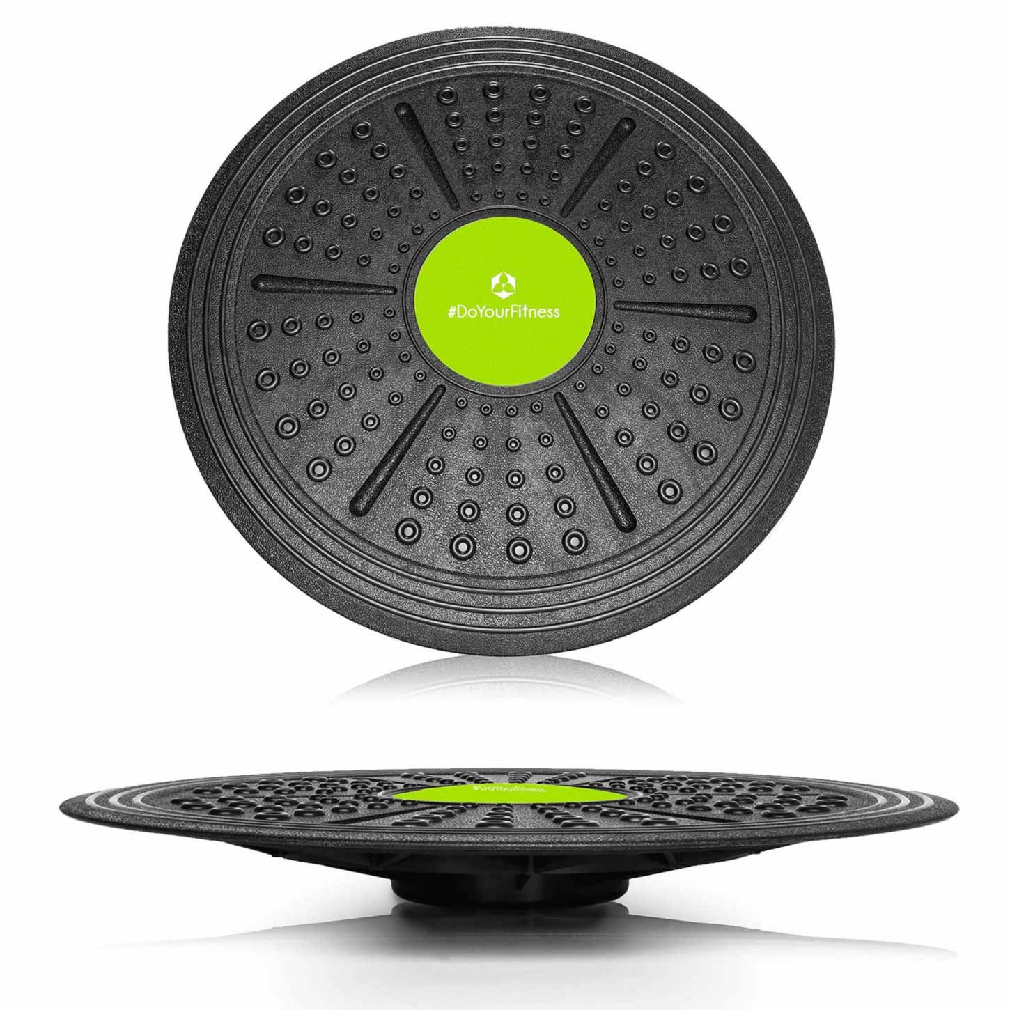 Round »Circulum« - balance-board / coordination board for fitness and therapy / in two sizes: 36 cm and 40.5 cm / Large ca. 40.5*5.5cm #DoYourSports