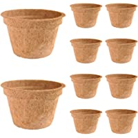 COIR GARDEN Coco Pot/Basket for Gardening Plants and Flowers, 6-Inch -Set of 10 Piece