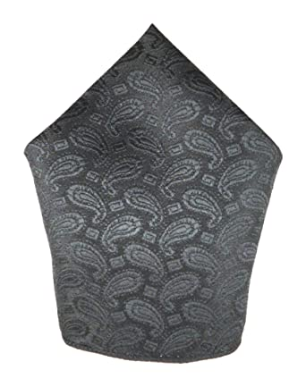 dbaaa3efff6ca Voici France - Premium Black Paisley Pocket Square microfiber Men Satin  Wedding Handkerchief Pocket Square: Amazon.in: Clothing & Accessories