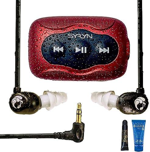 Swimbuds Flip Headphones w/8GB SYRYN Waterproof MP3 Player