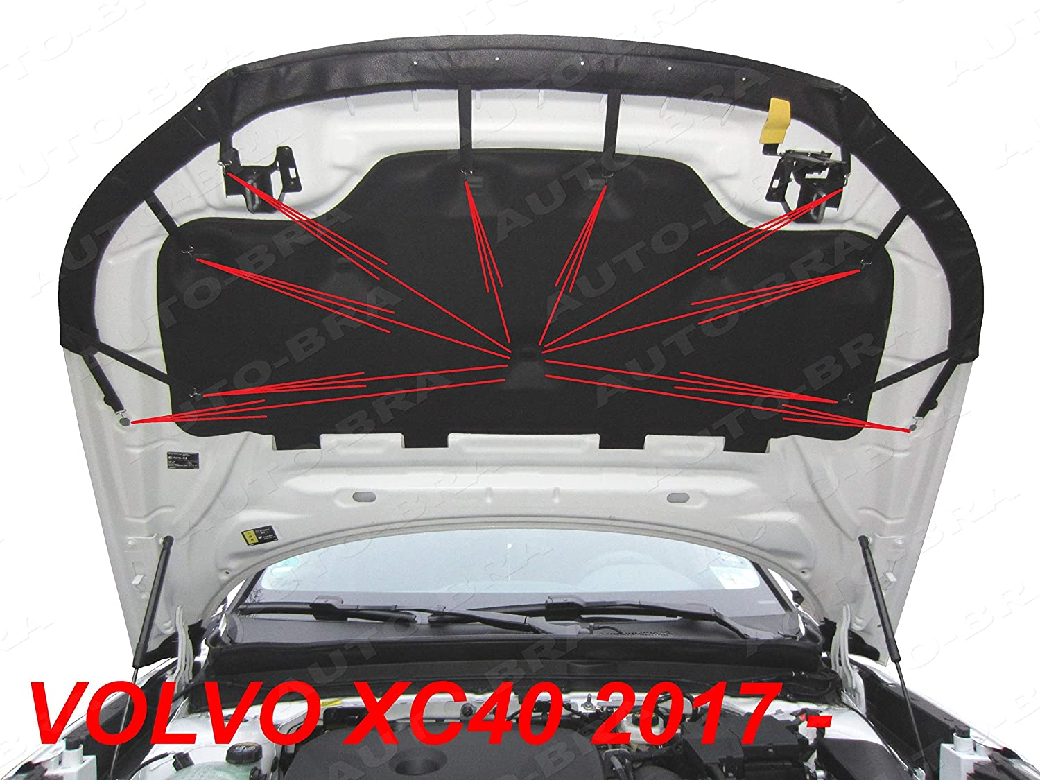 AB3-00374 HOOD BRA fit Volvo XC40 since 2017 Front End Nose Mask Bonnet Bra STONEGUARD PROTECTOR TUNING