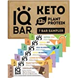 IQBAR Brain and Body Keto Protein Bars - 7 Sampler Keto Bars - Energy Bars - Low Carb Protein Bars - High Fiber Vegan Bars an
