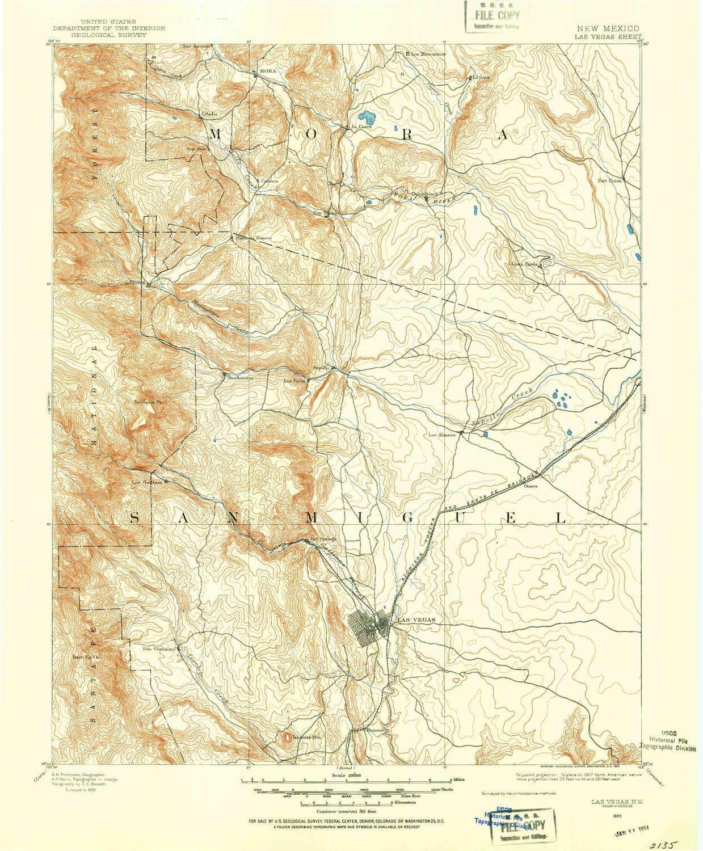 Amazon Com Yellowmaps Las Vegas Nm Topo Map 1 125000 Scale 30 X