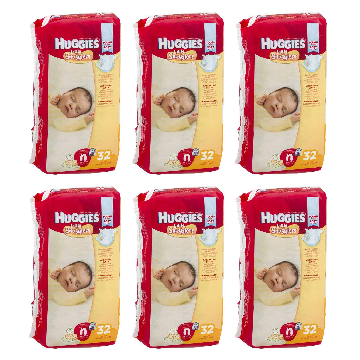 Amazon.com: Huggies Little Snugglers Baby Diapers Disposable, Size ...