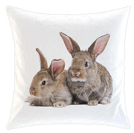 Funda de cojín/almohada/cojín - Diseño: Conejos braun| 011 ...