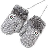 YICANG Guantes de punto para beb/és y ni/ños Guantes de invierno de cuerda c/álida Guantes de dedo completo Guantes para ni/ños peque/ños