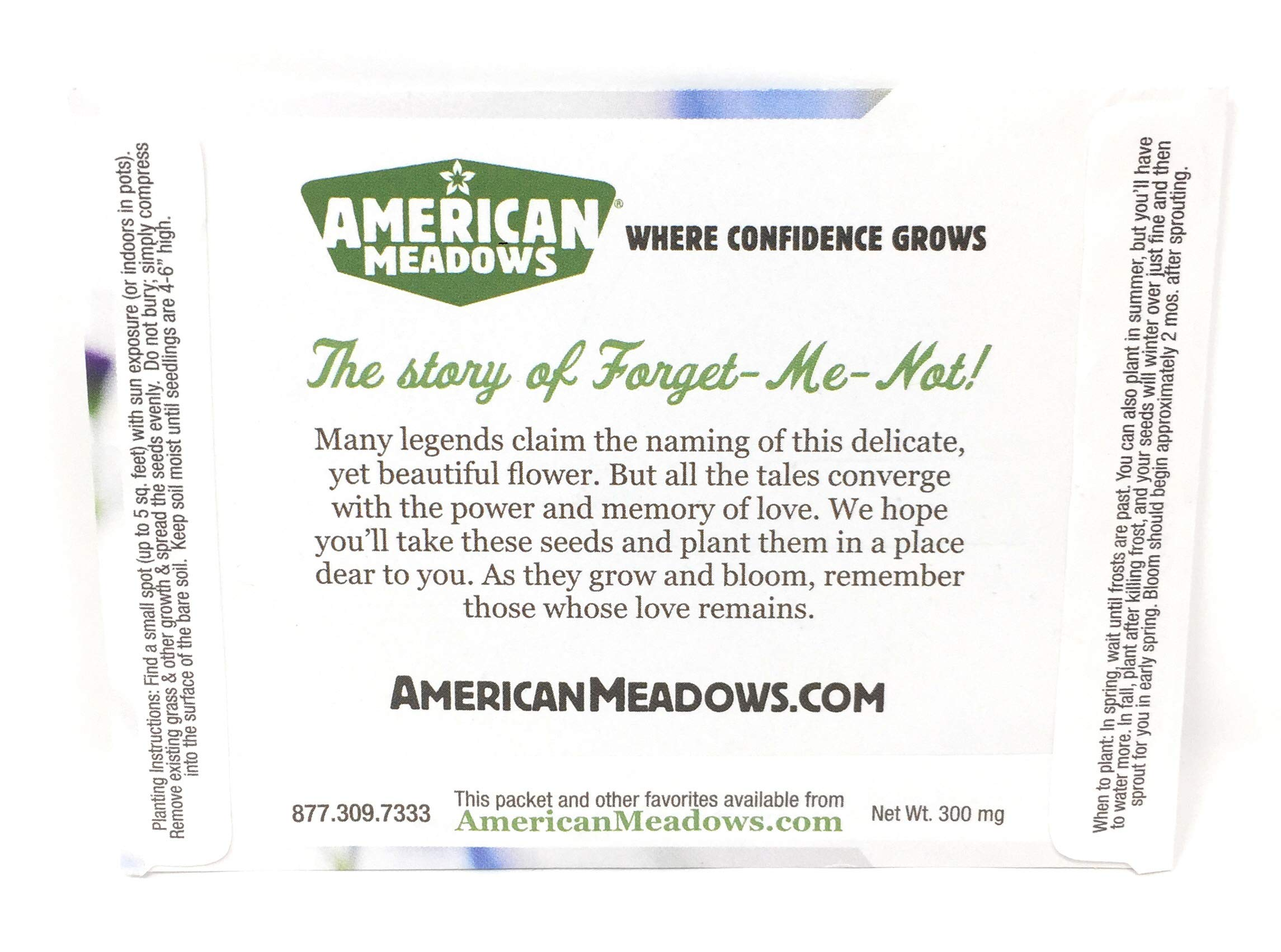 Forever in Our Hearts - Individual Forget Me Not Flower Seed Packet Favors - Ready to Give - Pack of 20 by American Meadows (Image #2)