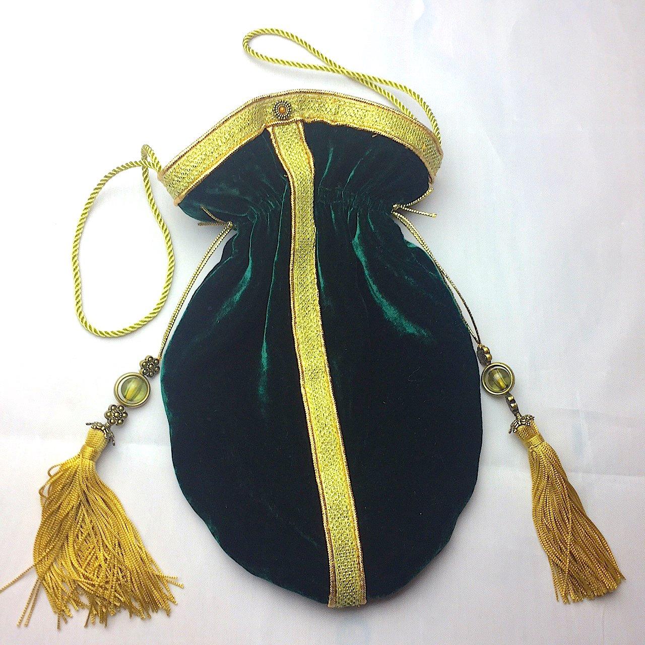 Emerald Green Velvet bag Purse Evening