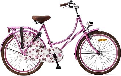 Bicicleta Popal Omafiets OM24 Holland de 24 pulgadas, para niña ...