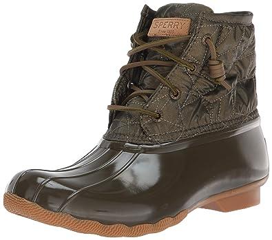 e5addb77f3f SPERRY Women's Saltwater Nylon Quilt Rain Boot
