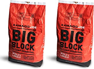 Kamado Joe All Natural Big Block Argentinian XL Premium Charcoal, 20 Lb (2 Pack)