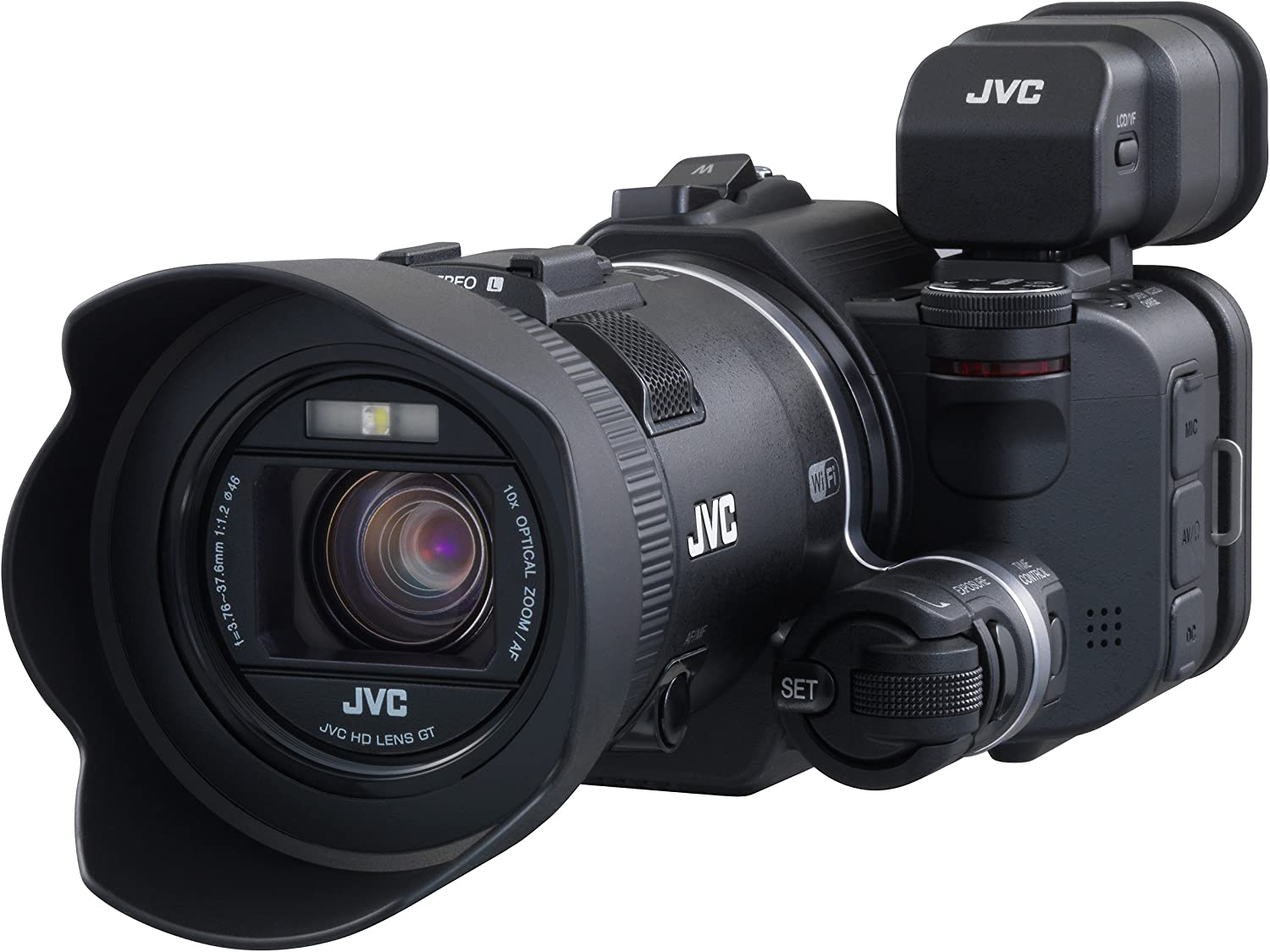 JVC GC-PX100BEU - Videocámara Full HD (12.8 MP, WiFi, Pantalla 3 ...
