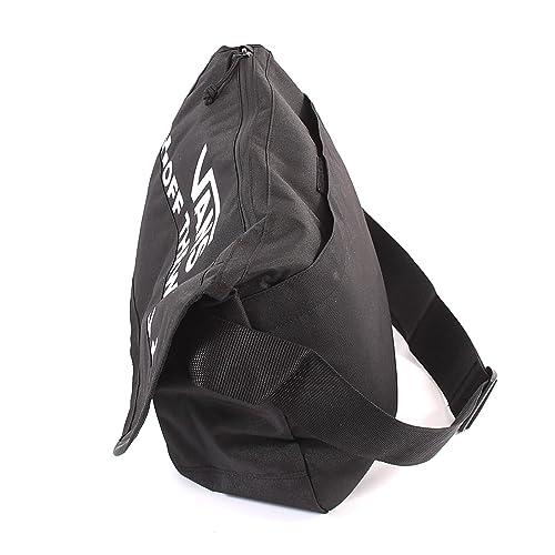 a9b634151f Vans Unisex Courier Messenger Shoulder Strap Polyester Bag Black-Black-O S   Amazon.co.uk  Shoes   Bags