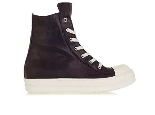 6ae297eda3 RICK OWENS Scarpe Uomo 'Ramones' Hi-Top Leather Sneakers-42.5 Uomo ...