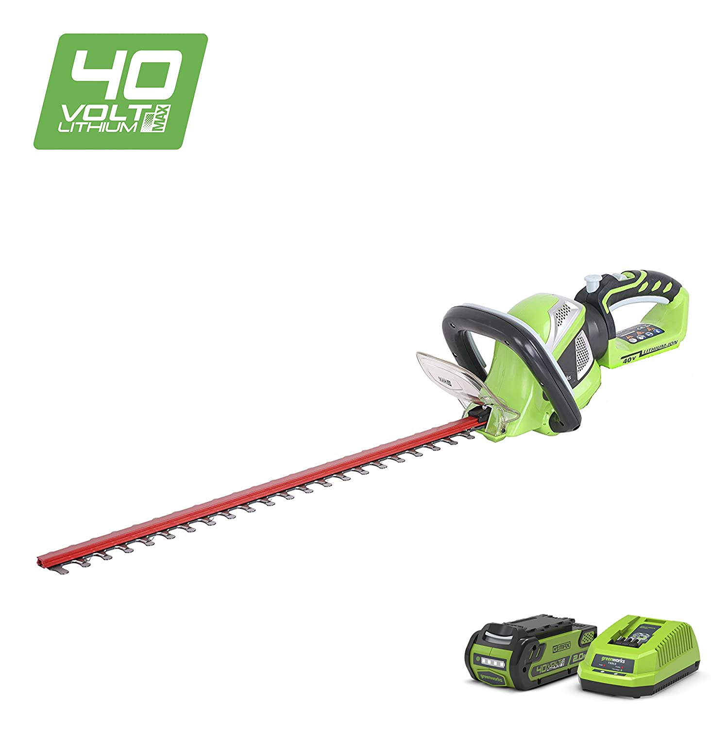 40V Akku-hedge trimmer - incl. battery pack and charger Greenworks Tools 22637TVA