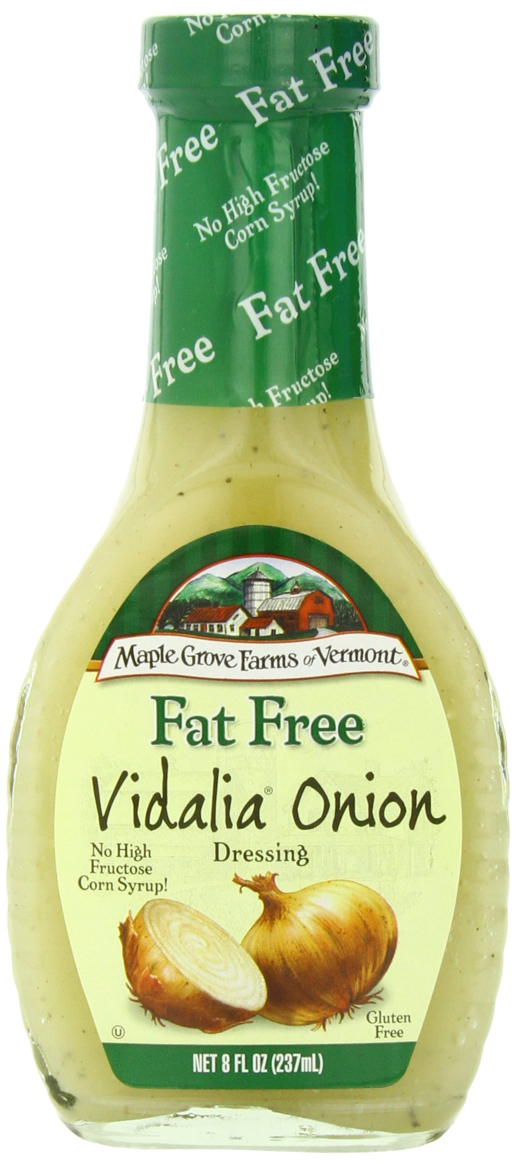 Maple Grove Farms Organic Dressing, Vidalia Onion, 8 Ounce (Pack of 12)