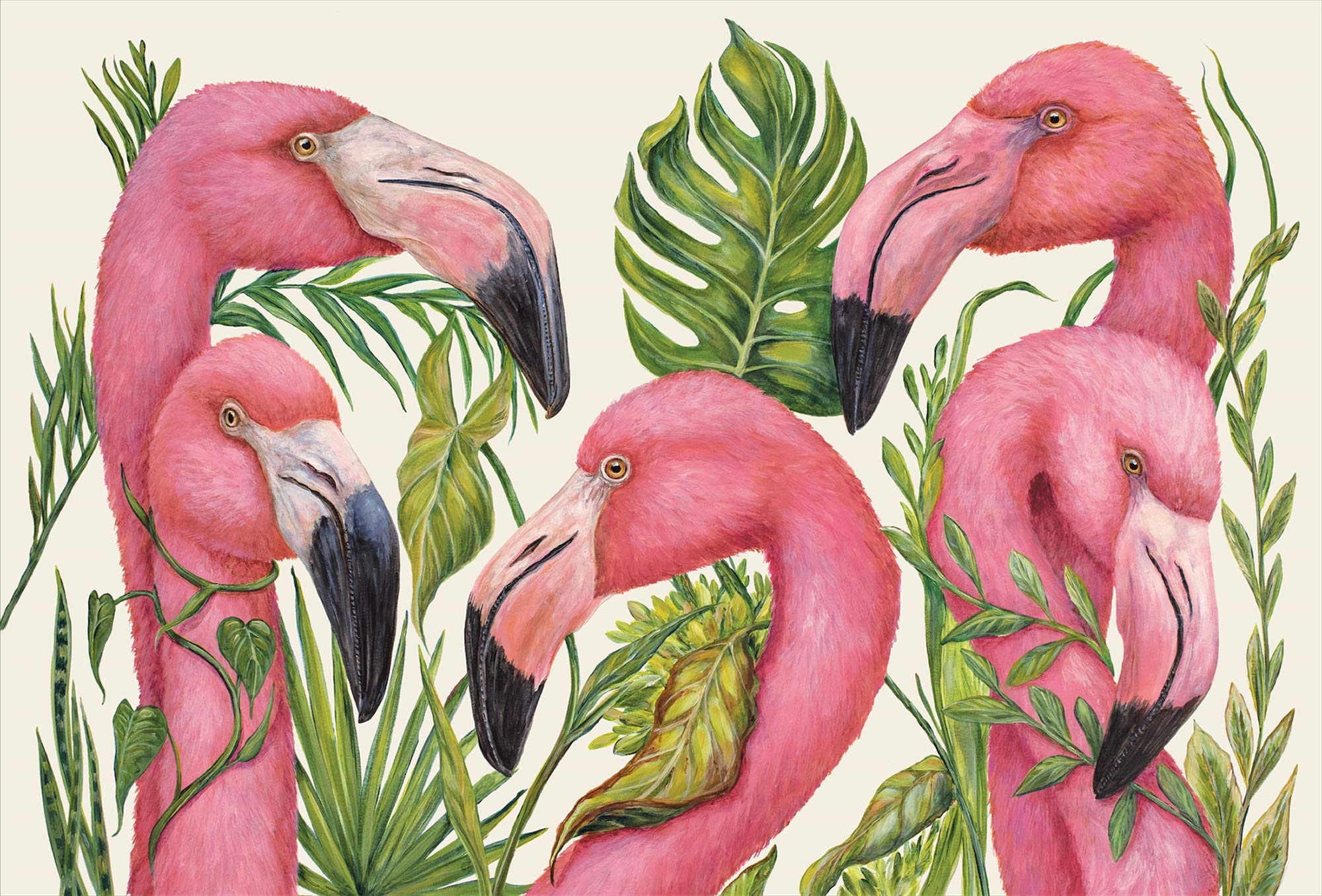 Hester & Cook Tropical Flamingos Paper Placemat, 24 Sheets