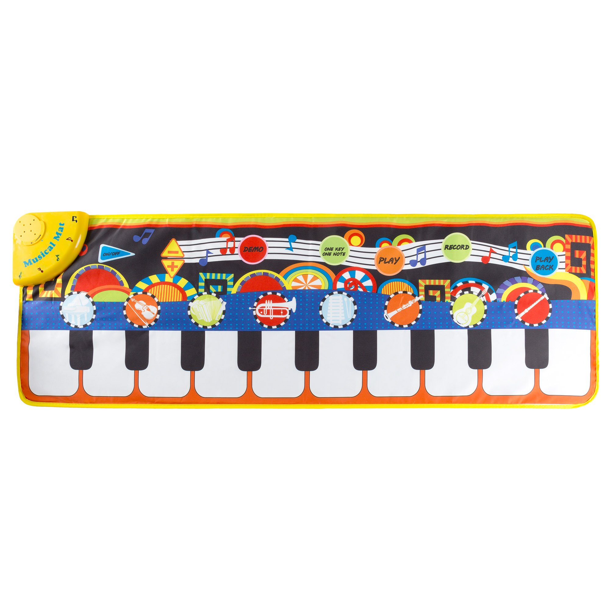 Step Piano Mat for Kids, Keyboard Mat with Musical Keys, Instrument Sounds, Record, Playback, Demo Modes for Toddlers, Boys and Girls by Hey! Play! by Hey! Play!