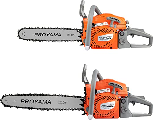 PROYAMA 46CC 16-inch 20-inch 2IN1 Gas Powered Chainsaw with Carrying Case, Orange Gray NEW ARRIVAL