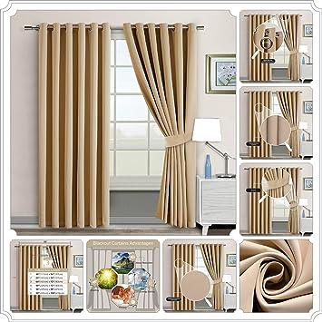 Sunrise Bedding Occultant Bague Du Couvercle Paire Rideaux Pour Chambre à  Coucher + Bureau + Salon ...