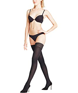 008f8c9054ce1 Wolford Women's Velvet De Luxe 50 Stay Up Tights at Amazon Women's ...