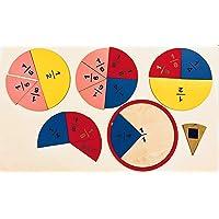 Montessori Matematik Mıknatıslı Ahşap Kesir Takımı