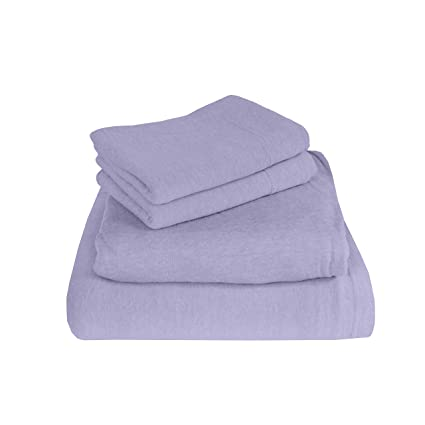 Morgan Home Fashions Cotton Rich T Shirt Soft Jersey Knit Sheet Set   All  Season