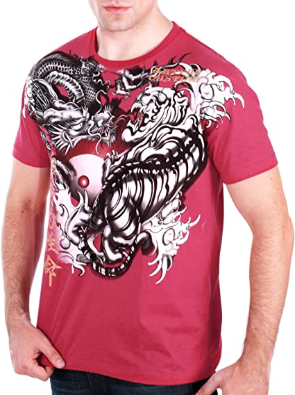I-N-C Mens Dragon Graphic T-Shirt